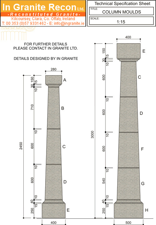 Standard Reconstituted Stone Columns